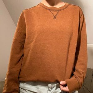 dark orange oversized sweater